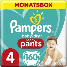 Pampers Baby-Dry Nappy Pants S4 - 160 ks